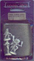 D&D Miniatures - Dark Sun - Human Shaman, Human Warrior and Halfling