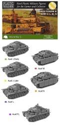 15mm WW2 German Panzer III J, L, M and N Tank (5)