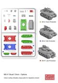 15mm WW2 Allied Reinforcements M5A1 Stuart Tank