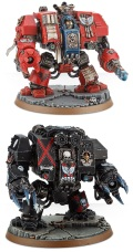 Space Marines - BLOOD ANGELS FURIOSO/LIBRARIAN/DEATH COMPANY DREADNOUGHT