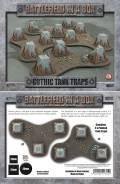 28mm Scenery - Prepainted Gothic Tank Traps