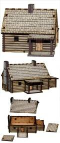 15mm WW2 Scenery - Pre-painted New England Settlers Hamlet