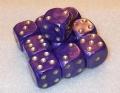 10d6 pöttyös gyöngyház lila / 10d6 Spot Pearl Purple w/Golden Numbers (10)
