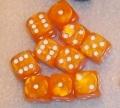 10d6 pöttyös gyöngyház narancs / 10d6 Spot Pearl Orange