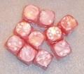 10d6 pöttyös gyöngyház rózsaszín / 10d6 Spot Pearl Pink