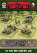 15mm WW2 British OQF 4.5` Howitzer Field Battery, Royal Artillery