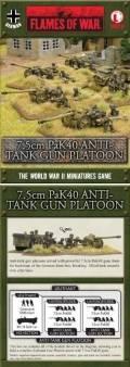 15mm WW2 German 7.5cm PaK40 Anti-Tank Gun Platoon