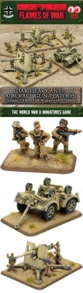 15mm WW2 German Hubner's DAK Heavy Anti-Aircraft Gun Platoon