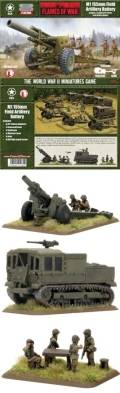 15mm WW2 US M1 155mm Field Artillery Battery