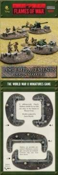 15mm WW2 Defences - Dug-In Markers - Log Emplacements (8)