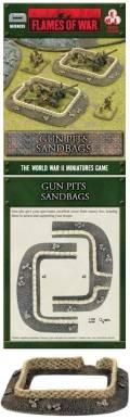 15mm WW2 Defences - Gun Pits - Sandbags (2)