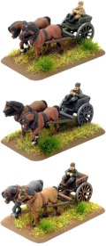 15mm WW2 Carts and Wagons - Horse-Drawn Limbers (3)