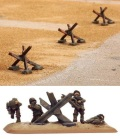 15mm WW2 Defences - Obstacles - Tank Traps (15)
