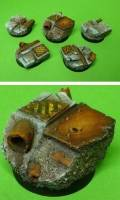Bases - 25mm Rusty Stone (10)