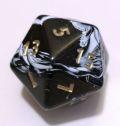 20 OLDALÚ DOBÓKOCKA JUMBO márvány fekete / D20 JUMBO Marble Black