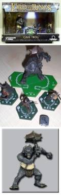 Lord of the Rings Combat Hex TMG - CAVE TROLL AND HEROES