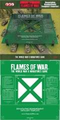 Flames of War - Devastating Bombardment Template (Imperial) - Green
