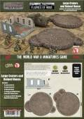 15mm WW1 Scenery - Large Craters and Ruined House