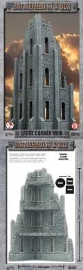 28mm Scenery - Gothic Large Corner Ruin