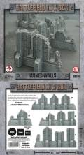 28mm Scenery - Gothic Ruins / Ruined Walls