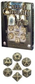 Call of Cthulhu - Beige & Black Dice Set (7)