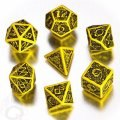 Celtic - Yellow & Black 3D Revised Dice Set (7)