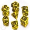 Celtic - Yellow & Black 3D Revised Dice Set (7)