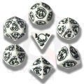 Dragons - White & Black Dice Set (7)