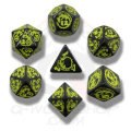 Dragons - Black & Yellow Dice Set (7)