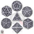 Dwarven - Gray & Black Dice Set (7)