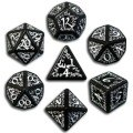 Elven - Black & White Dice Set (7)