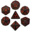 Elven - Black & Red Dice Set (7)