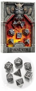 Dwarven - Metal & Black Dice Set (7)