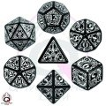 Steampunk - Black & White Dice Set (7)