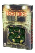 Tech - Green & Black Dice Set (7)