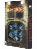 Tech - Black & Blue Dice Set (7)