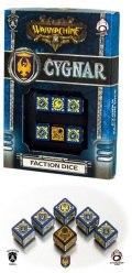 Warmachine - Cygnar Faction d6 Dice (6)