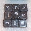 10d6 márvány fekete / 10d6 Marble Black