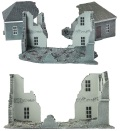 15mm WW2 Scenery - Ruined Building
