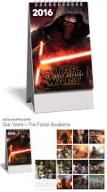Star Wars - The Force Awakens - ASZTALI KÉPES KIS NAPTÁR 2016