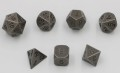D&D DOBÓKOCKAKÉSZLET / METAL DICE SET Tarnished Steel (7)