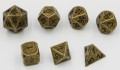 D&D DOBÓKOCKAKÉSZLET / METAL DICE SET Tarnished Gold (7)