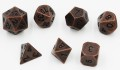 D&D DOBÓKOCKAKÉSZLET / METAL DICE SET Tarnished Bronze (7)