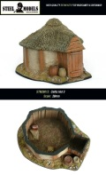 28mm Scenery - CELTIC HUT #3
