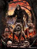 FÜZET A/5 vonalas / JOURNAL Lined - Anne Stokes: Grim Reaper 3