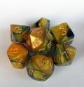 D&D DOBÓKOCKAKÉSZLET gyöngyház fekete-arany / DICE SET Dual Color Pearl Black/Gold
