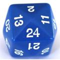 24 OLDALÚ DOBÓKOCKA tömör kék / 24 SIDED DICE Solid Blue