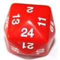 24 OLDALÚ DOBÓKOCKA tömör piros / 24 SIDED DICE Solid Red