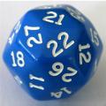 30 OLDALÚ DOBÓKOCKA tömör kék / 30 SIDED DICE Solid Blue
