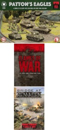 15mm WW2 US PATTON'S EAGLES Army Deal (includes Mini rulebook + Bridge at Remagen book)